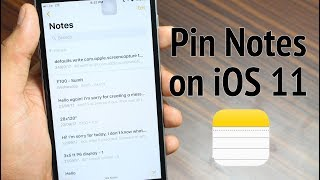 Pin Notes in iOS 11 Notes App on iPhone and iPad