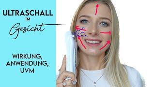 Ultraschall Gesichtsbehandlung zuhause Wirkung & Anleitung | Vorher Nachher gegen Falten & Pickel