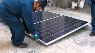 太陽光発電コンクリート架台施工方法編