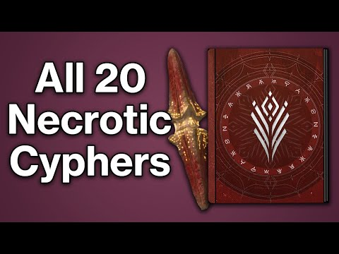 "All 20 Necrotic Cypher Locations - ""Inquisition of the Damned"" Lore Collectible Guide (Destiny 2)"
