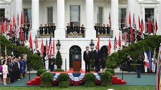 習近平出席美國總統奧巴馬在白宮舉行的歡迎儀式