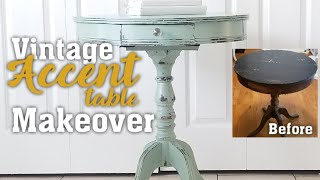 Vintage Accent Table Makeover, Using Chalk Paint