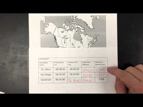 Mr. Clauss on how to locate earthquakes from P and S wave data