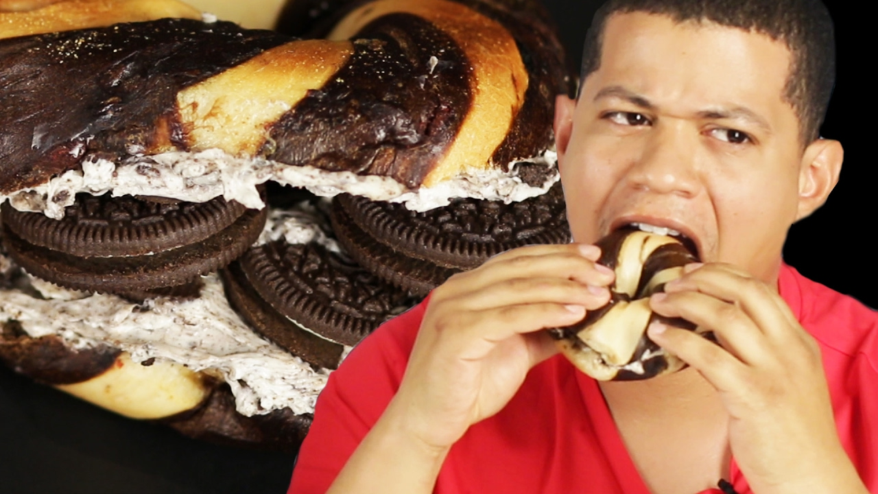 People Try Oreo Bagels thumbnail