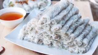 Fawm Kauv (steamed Rolled Rice Cake With Pork): Banh Cuon