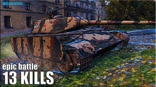 13 фрагов ВСЁ ПО УМУ 🌟 World of Tanks Т-44-100 (Р) лучший бой