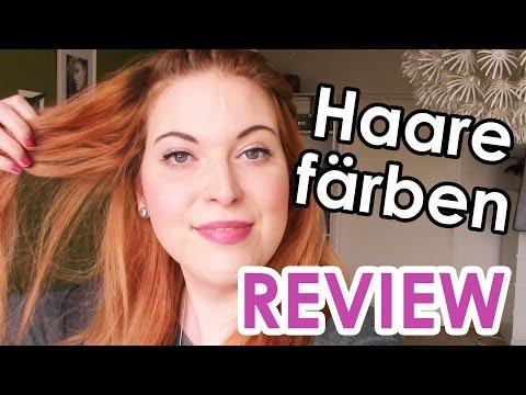 Haare färben | Mein Fazit Haarfarbe blonde Haare rot färben Review