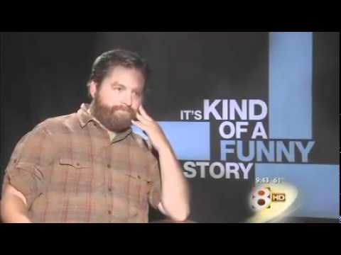 Zach Galifanakis is uncomfortably interviewed for It's Kind of a Funny Story, which is weird because he usually interviews others uncomfortably.