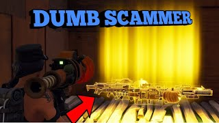 DUMB Scammer Tried To Scam Me! (Scammer Gets Scammed) Fortnite Save The World