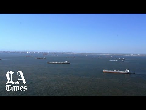 Coast Guard shows dozens of oil tankers off L.A. coast with nowhere to go