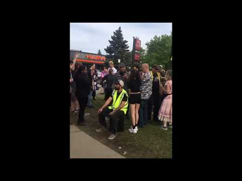 Girl moans at anime convention during jesus protest