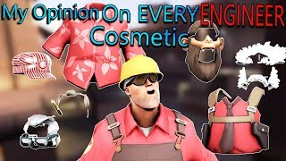 TF2 - My Opinion On EVERY Engineer Cosmetic In Under 8 Minutes!