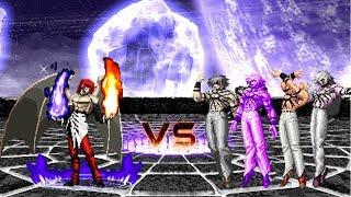 [KOF Mugen] Element iori Vs Orochi Team