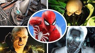 Spider-Man PS4 - All Bosses + Cutscenes
