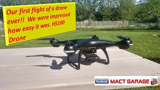 Holystone HS100 drone first flight