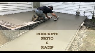 Concrete Patio & Ramp