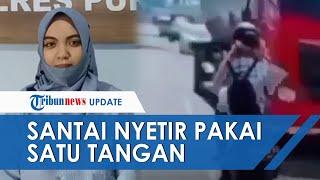 Viral Video Aksi Pemotor Wanita Ugal-ugalan Adu Banteng dengan Truk, Tetap Santai Pakai Satu Tangan