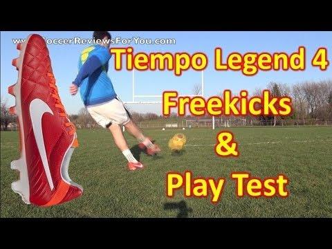 Nike Tiempo Legend 4 IV ACC Review - Freekicks + Play Test