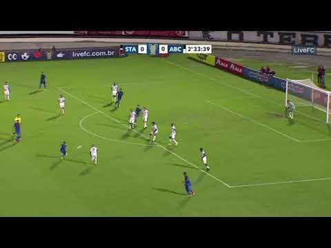 Veja o gol que deu a 1ª vitória ao Santa Cruz pela Copa do Nordeste