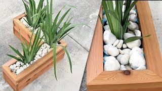 How To Make An Outdoor Planter ( With LED )