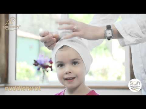 Cuddletwist Bamboo Hair Towel - Original white Video
