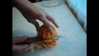 Украшение для стола из апельсина.