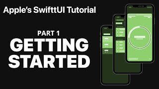 Getting started with Apple's SwiftUI tutorial - PART 1