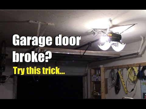 Garage door stuck? Won't go up? Try this (and some other cool tricks!)