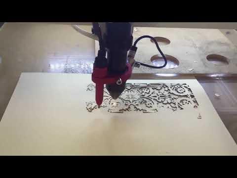 Szybkie Cięcie papieru - laser Co2 WS 0506U | Fast cutting papier by Co2 laser WS 0506U - zdjęcie