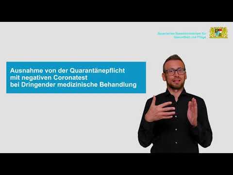 Einreise-Quarantäneverordnung – EQV vom 05.11.2020 – in Deutscher Gebärdensprache