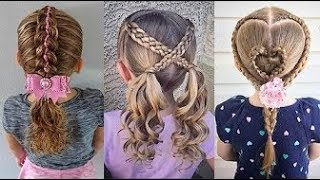 Satisfying   8 Cute Little Girls Hairstyle Tutorials ❀ Viral Hairstyles For Kids