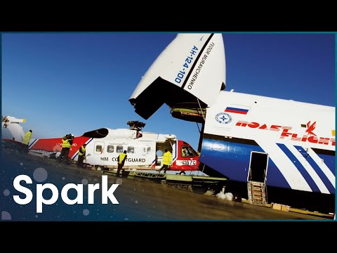 Engineers Move £20 Million Search And Rescue Helicopter 3,500 Miles | Huge Moves | Spark