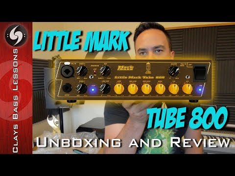 MARK BASS Little Mark Tube 800 UNBOXING and REVIEW