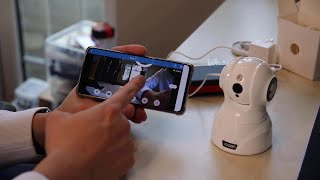 JOOAN 3MP WiFi Security Camera Model 825 setup and demo by Benson Chik