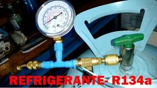 COMO CARGAR GAS A UNA NEVERA, REFRIGERADOR- R134a-ECOLÓGICO.
