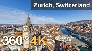 Zurich Switzerland Teaser Aerial 360 video in 4K Virtual travel