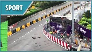 170mph F3 crash in Macau (Sophia Floersch)