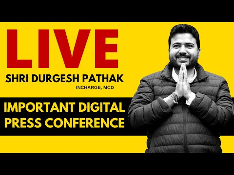 LIVE | AAP LEADER DURGESH PATHAK announcing an Important Press Conference