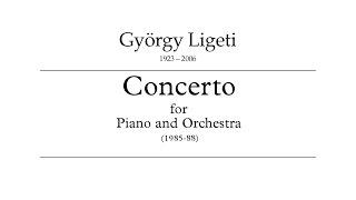 György Ligeti - Piano Concerto (1985-1988, audio+score)