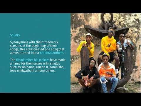 Gengetone musicians topping Kenyan charts in 2020.