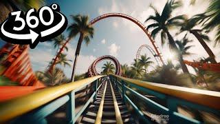 🔴 VR 360 Roller Coaster on Volcano Isle VR Videos 360 Split Screen for Virtual Reality