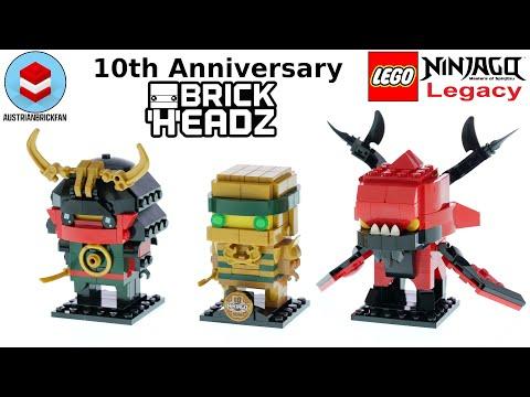 Vidéo LEGO BrickHeadz 40490 : NINJAGO 10