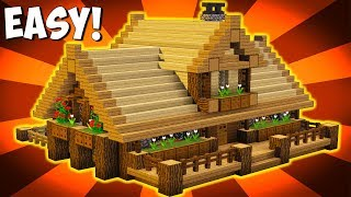 Minecraft How To Build Big Wooden House Big Survival House Tutorial Ps3 Ps4 Xbox360 Mcpe Pc Minecraftvideos Tv