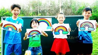 Hacona Police Teacher Go To School Learn Colors Rainbow - Classroom Funny Nursery Rhymes
