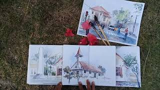 preview picture of video 'Traveling sketch at muntok Bangka. Finish Hkie sketchbook'