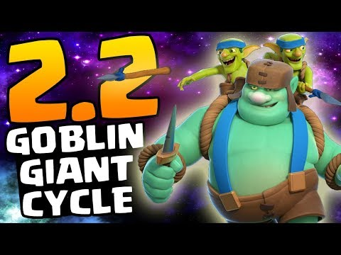 CHEAPEST GOBLIN CYCLE DECK EVER! 2.2 ELIXIR! | Clash Royale