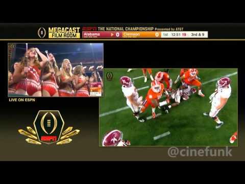 2016 National Championship Film Room Telecast: #2 Alabama vs #1 Clemson Full Game 1080p30
