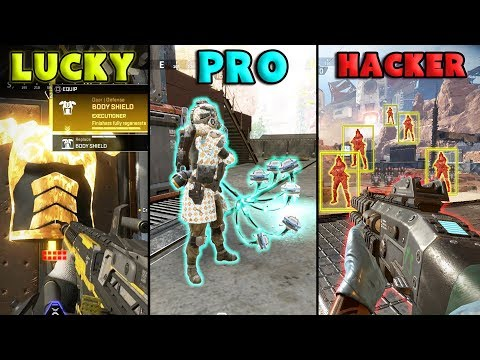 LUCKY vs PRO vs HACKER - NEW Apex Legends Funny Epic Moments #61