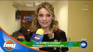 Elizabeth Álvarez Festejó El Tercer Cumpleaños De Sus Mellizos   Hoy