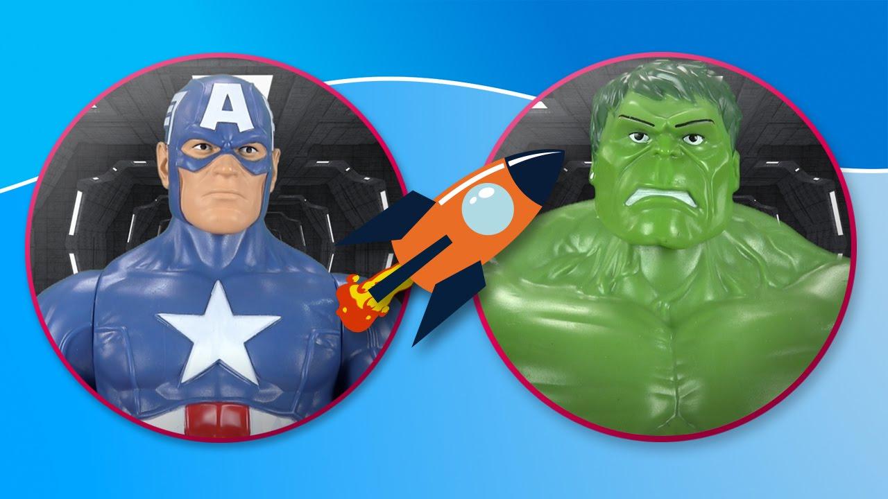 Hulk vs Capitán América. The Avengers luchan en el espacio